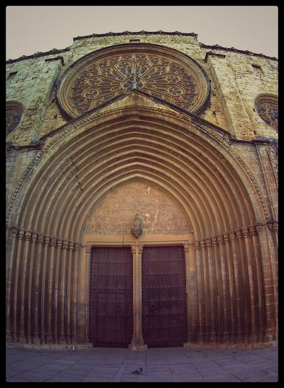 Architecture Auto Post Production Filter Building Exterior Built Structure Day Gateway To The Monastery Of Sant Cugat Del Vallés-Barcelona No People Outdoors Sky