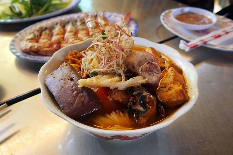 Close-up of cooked pork in bowl