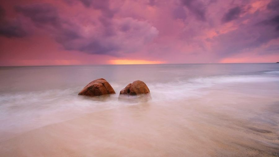 Twin rocks at teluk cempedak, kuantan, pahang