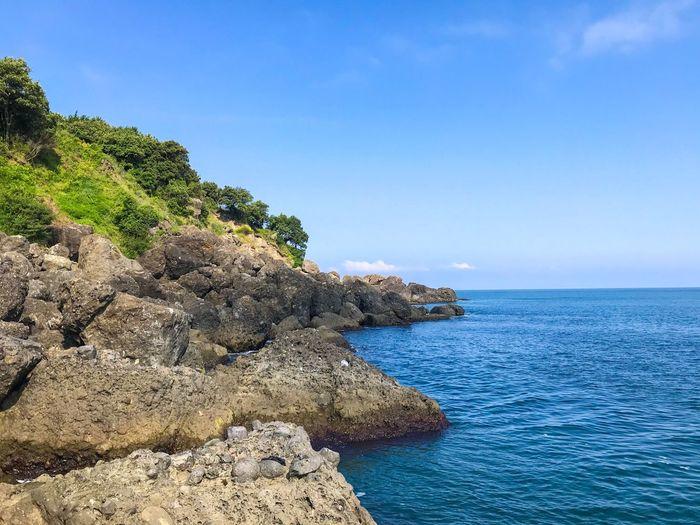 Rocks Sea Sky