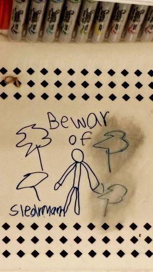 Beware of SlenderMan Kindergarten Graffiti Micheals Sharpie Art Kids Being Kids Weird Scary Stuff  NoWordsNeeded