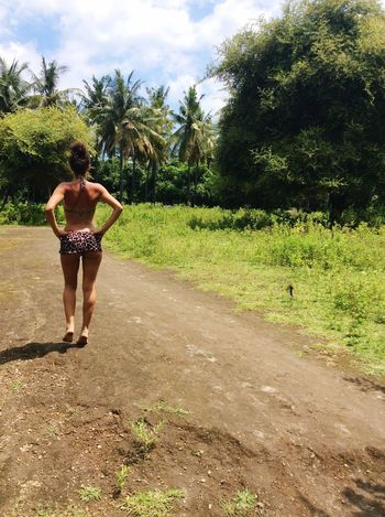 Walking in the jungle)) Bikini Bottom Day Young Women One Person Vacations Palm Tree Leisure Activity Nature Lifestyles One Young Woman Only Gili Air Sea Swing Balinesegirl