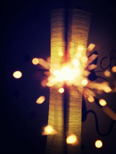Wunderkerzen Feuer Silvester