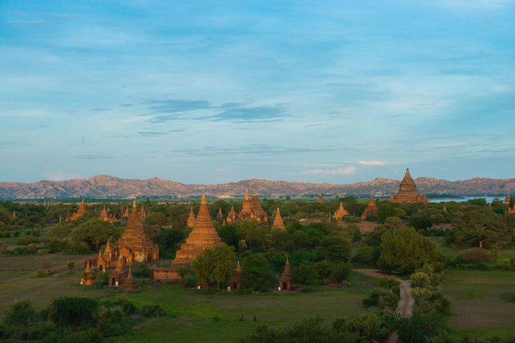 Morning light on Bagan. Myanmar. Landscape Tranquil Scene Scenics Countryside Beauty In Nature Nature Ancient Atmosphere History Horizon Over Land Famous Place Travel Destinations