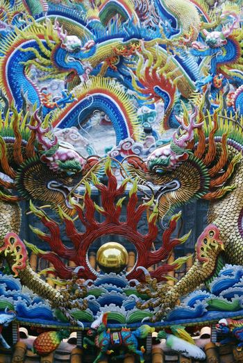 Contemplation On A Higher Plane Dragon Peace And Love Koji Pottery Taiwanese Temple Taiwan Temple Deceptively Simple Altars The Changing City