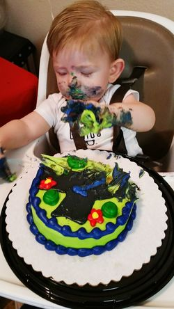 Our great grand nephew, uh, wearing his birthday cake. Lol.😉 Indoors  Person Innocence Creativity Toddler  Kids Birthday Cake Family Kids Eyemphotography Popularphotos EyeEm Best Shots Colorful Thewoodlandstexas Childhood People And Places Messy Face