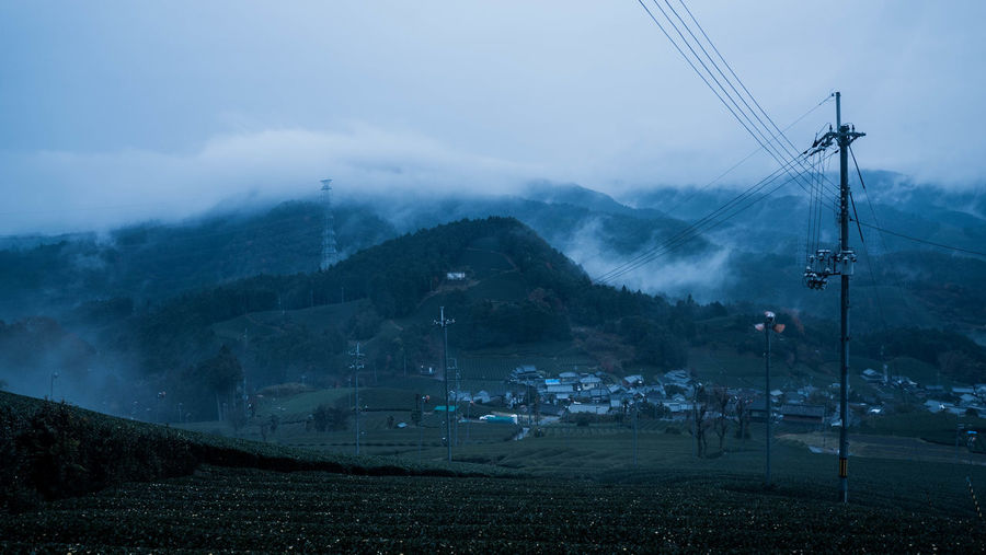 Japan Photography Agriculture Beauty In Nature Cloud - Sky Cold Temperature Field Fog Kyoto,japan Landscape Mountain Nature Outdoors Rural Scene Teafield Wazuka Winter