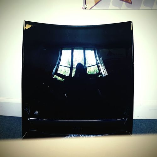 This Is Light day 24. Reflection Light In The Darkness Chair Shiny Surfaces Black Black And White Window Milliestrust