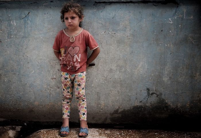 Refugee child.