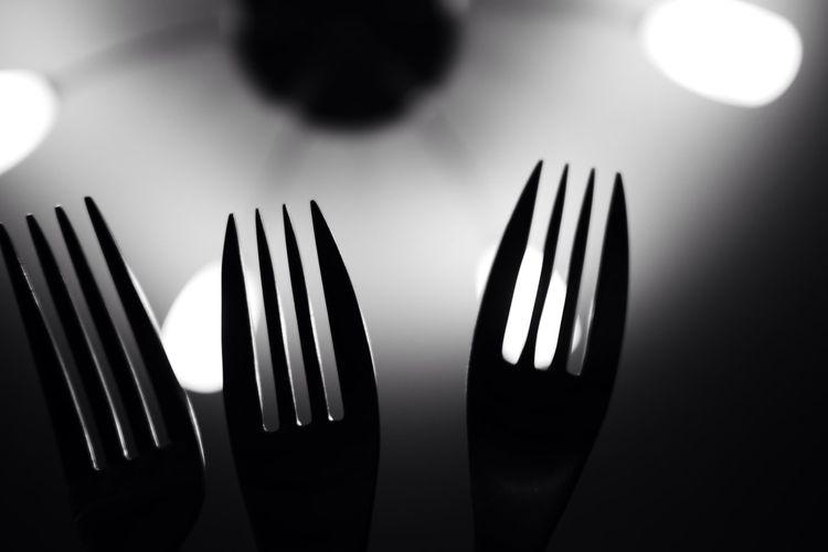 3 Indoors  Eating Utensil Black And White Photography Blackandwhite Black & White Black And White