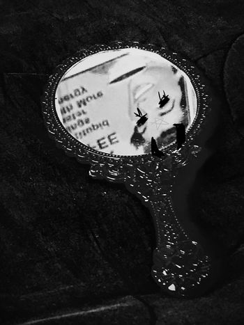 No People Close-up Indoors  Day Mirror Woman Scary Horror Black And White Rotated Demon