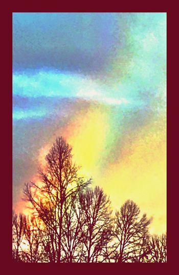 Colors Of The Rainbow Rainbows Sky Clouds Rainbow