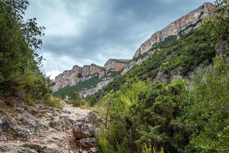 Catalonia Cloud - Sky Day Landscape Mountain Nature No People Outdoors Pantà De Camarasa Rock Formation Sky