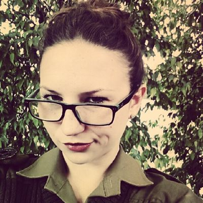 Russiangirlsss_ Army Israel Russian idf pretty cute glasses