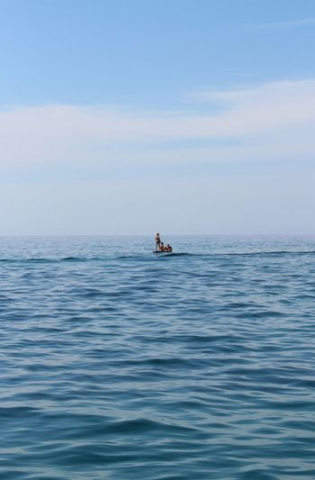Sea Water Horizon Over Water Waterfront Blue Tranquility Seascape Scenics Rippled Tranquil Scene Nautical Vessel Beauty In Nature Sky Calm Nature Ocean Distant Cloud Outdoors Vacations sup stand up paddle Backgrounds Water Surface