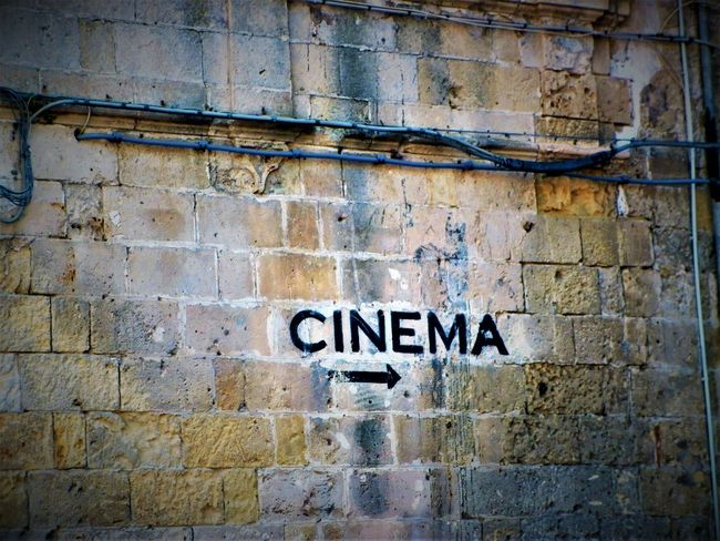 Text No People Built Structure Communication Brick Wall Basilicata, Italy  Matera Matera2019 Matera Street Photography Materaunesco Cinema Cinemaphotography
