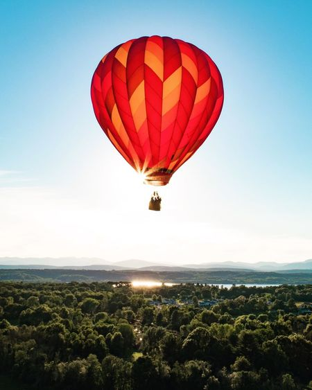 Sky Mid-air Adventure Air Vehicle Hot Air Balloon Flying Scenics - Nature