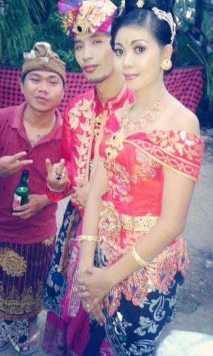 Tattoo Wedding Party Drink Beer Balinese Wedding
