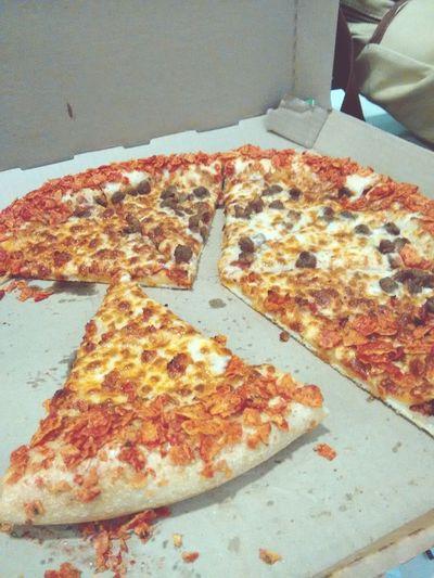 Una rica pizza