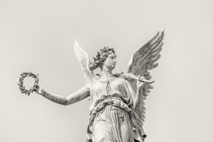 Close-up of statue of angel at Charlottenburg Palace in Berlin, Germany Angel Berlin Charlottenburg Palace Close-up Color Image Day Germany🇩🇪 History Horizontal No People Outdoors Photography Statue