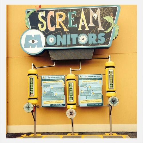 Disney Taking Photos Scream Monsters INC