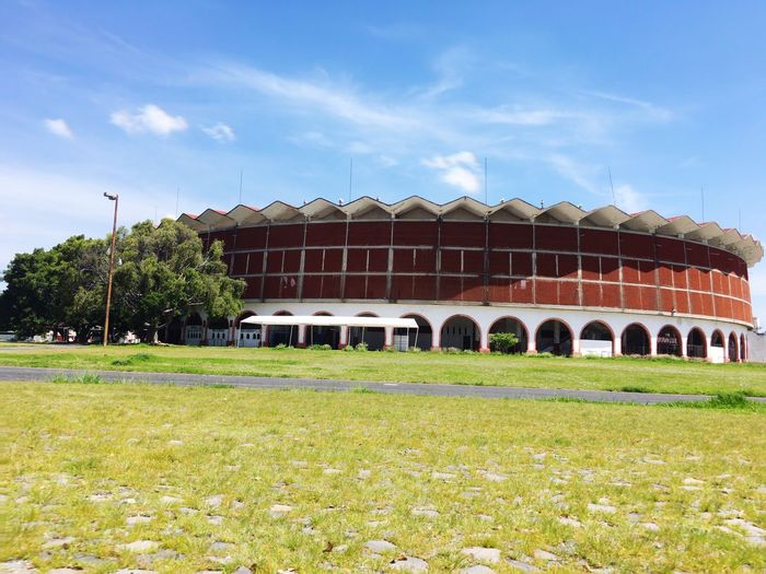 Monumental  Monumental Plaza De Toros Mexico  Nature Day Building Exterior No People Outdoors Architecture Grass Built Structure Sky Tree