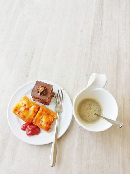 Food And Drink Sweet Food Plate Tea - Hot Drink Drink Studio Shot High Angle View Coffee - Drink Indoors  No People Dessert Food Indulgence Table Freshness Ready-to-eat Tart - Dessert Close-up Day