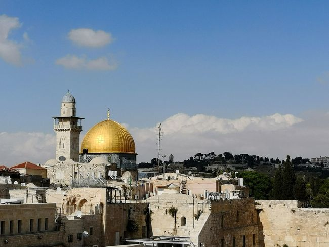 Temple mount Jerusalem with panorama of old city Dome Of The Rock Jerusalem Dome Of The Rock Dome Of The Rock Jerusalem Jerusalem No People Nobody Politics And Government Dome City Place Of Worship Spirituality Religion Gold Colored Grave Business Finance And Industry Sky Cupola Historic Pilgrimage Icon Monastery