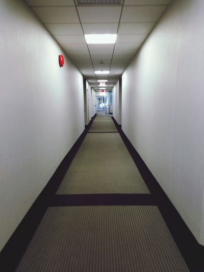 Hallway Office Commercial Carpeted Path