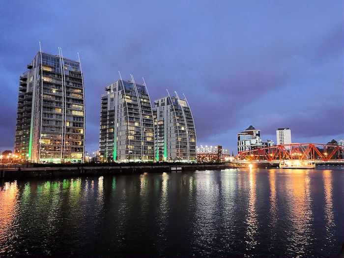 NV Buildings - Luxury Apartments - Salford Quays - Roger Machin Photography City Night Reflection Skyscraper Water NV Buildings Urban Skyline Modern Architecture Business Finance And Industry Business Sky Cityscape Outdoors No People Sunset Salford Salford Quays Roger Machin Photography
