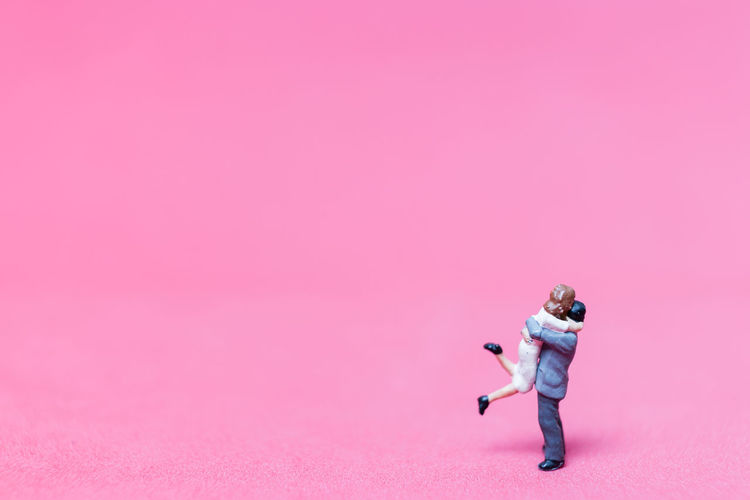 Background Classic Closeup Concept Couple Dress Female Figure Formal Hug Hugging Hugging Couple Love Macro Male Man Marriage  Mini Miniature Model People Small Suit Tiny Together Toy Valentine Wedding Woman