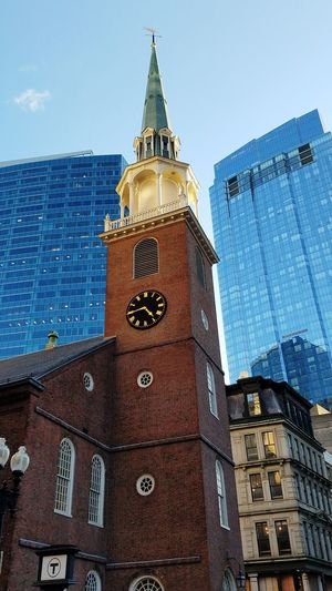Boston, Ma Boston Boston, Massachusetts Downtown Downtown Boston Architecture Building Exterior Clock Tower Clock Outdoors Built Structure Travel Destinations No People City Day Cityscape The Graphic City Colour Your Horizn