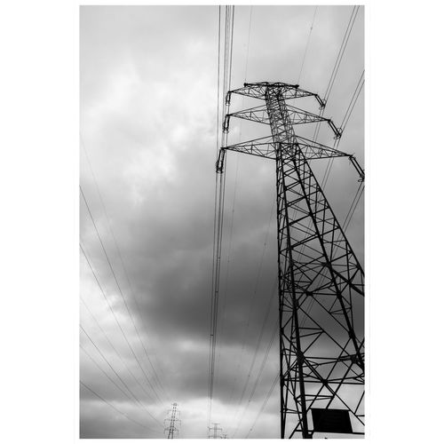Technology Electricity Pylon Electricity  Steel Cable Fuel And Power Generation Sky Cloud - Sky Transfer Print Electrical Grid Electric Pole Power Cable Power Supply High Voltage Sign Girder Auto Post Production Filter Fuse Box Electric Meter Steel Cable Telephone Line Power Station Oxfordshire Power Line  Pixelated Grid Wire Telephone Pole