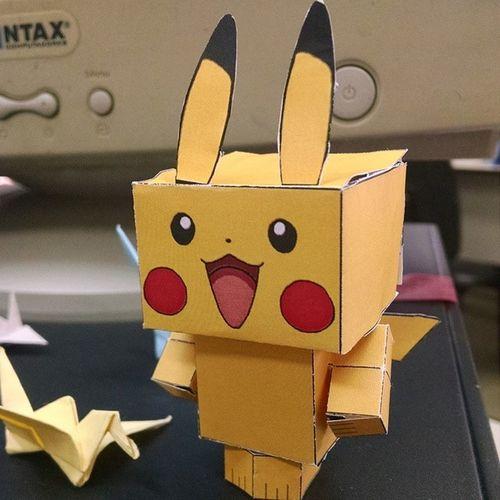 Meu novo companheiro.. Cubecraft Pikachu Tamotedioaqui Vamuquetemmaisprafazer terminalogosemana