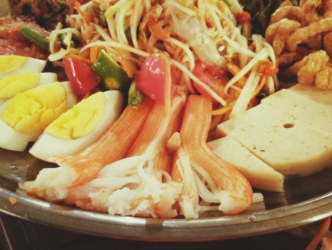 Food And Drink Food Seafood Healthy Eating Freshness No People Ready-to-eat Indoors  Close-up Day ตำถาด