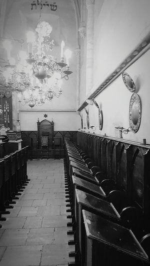 Black And White Blackandwhite Photography Black And White Photography Indoors  No People Old Travel Destinations History Jew Jewish Prague Jewish Museum Synagogue Interior