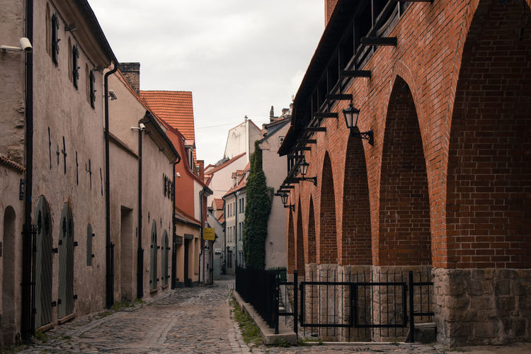 Oldcity Riga Latvia Street City Street Fortress Fortress Wall City Sky Architecture Building Exterior Built Structure Brick Wall Brick Old Town