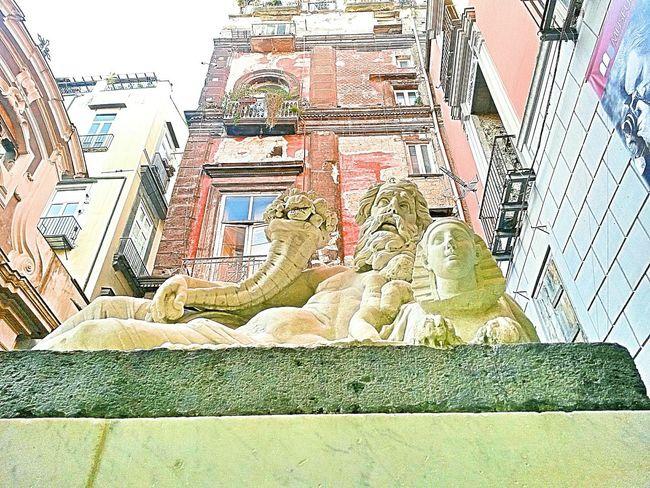 Statua Del Nilo Outdoors Sculpture Ancient City Neapolis Naples, Italy Storic Center