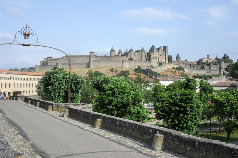 Carcassonne on France Carcassonne France 🇫🇷 Architecture Building Exterior Built Structure Tree Plant Sky Street City History Nature The Past Street Light Building Day No People Road Travel Destinations Travel Outdoors Lighting Equipment