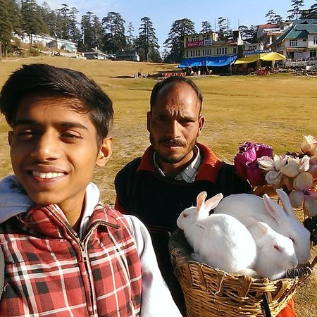 Khajjiar Shooting Selfie Rabbits