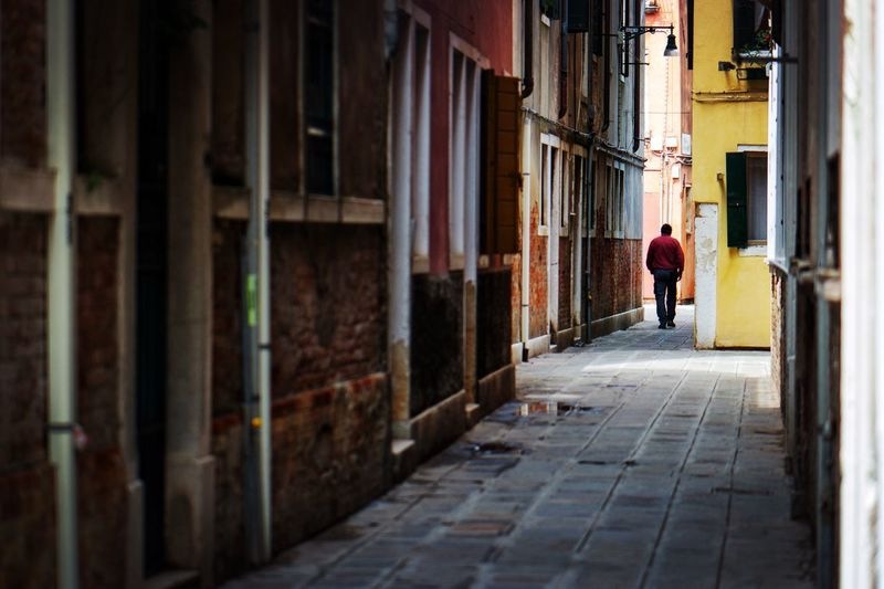 Street Photography Venice Venezia Architecture Built Structure Building Exterior Walking Full Length Building #urbanana: The Urban Playground Street City People Lifestyles