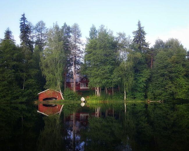 Boathouse on a