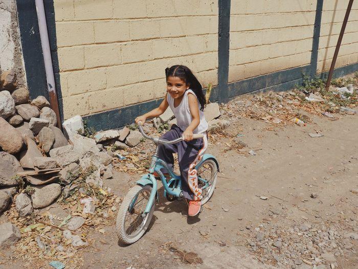 Melanie Guatemala Kids Bicycle Smiling