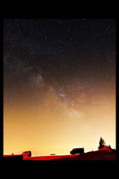 Stars City Light Under The Milky Way EyeEm Nature Lover Astrophotography