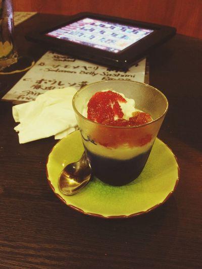 Pudding home made .yum yum !