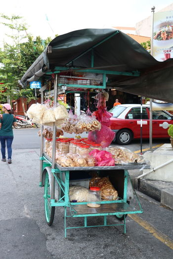 Garbage for sale at street market