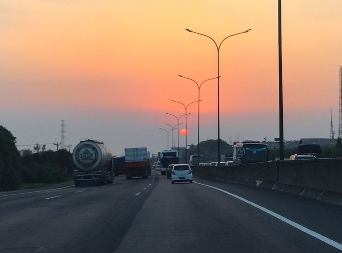 Magic Hour Afternoon Sunset Street Sun Highways INDONESIA IPhoneography
