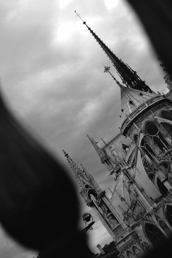 Architecture Built Structure Cathédrale Notre-dame De Paris Close-up Cloud Cloud - Sky Cloudy Day Development Focus On Foreground Low Angle View Nature No People Notre Dame Cathedral Notre Dame De Paris Original Photography Original Point Of View Outdoors Overcast Paris See The World Through My Eyes See What I See Sky Tall - High Weather