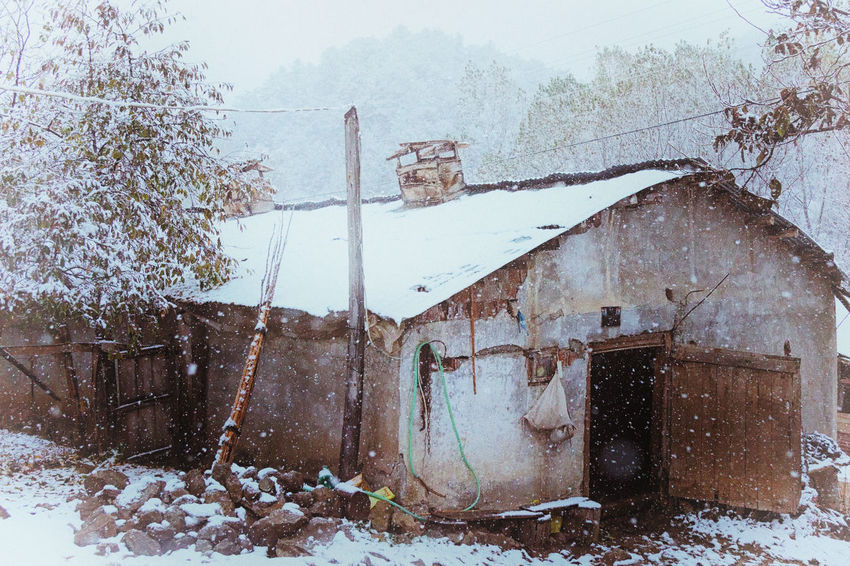 Snowy Village Life Abandoned Architecture Barn Building Exterior Built Structure Cold Cold Temperature House Icy Nature Outdoors Rooftop Snowing Snowy Sünnet Sünnetköy Trees Turkey View Village Life Winter