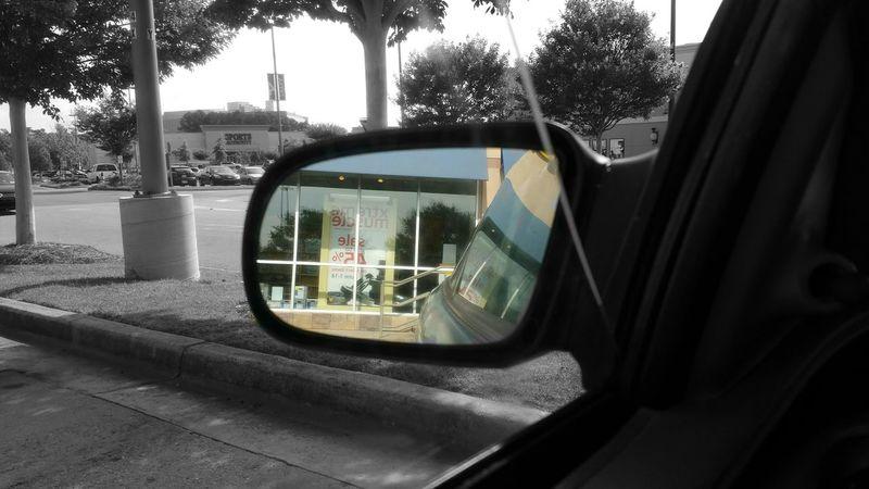 Waiting for Amy Car Rear View Rear View Mirror Atlanta